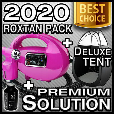 New - Pink Spray Tan Machine & Black Tent Kit - Bonus Solution -Hvlp 700 Tanning
