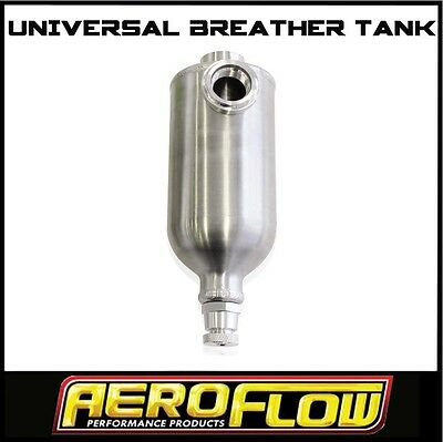 Baffled 550Ml Engine Oil Breather Catch Tank Can Polished Alloy Aeroflow 77-1016