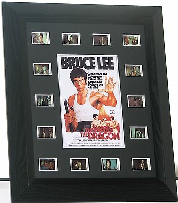 Bruce Lee 'way Of The Dragon' Film  Mount  Framed  14 Cell