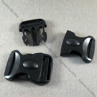 "2/10/25 pcs Black Plastic Oval Buckles Personality For 1-1/2"" belt M186-38"
