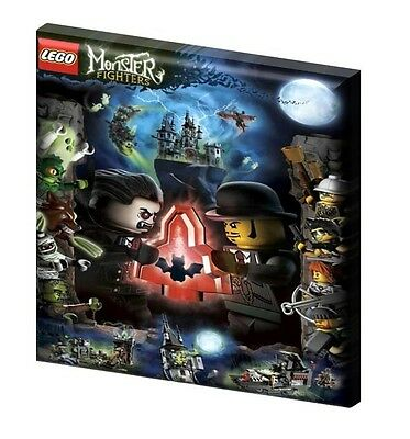 "LEGO MONSTER FIGHTERS  - CANVAS PICTURE 10"" x 10"" - ONLY  £7.99 Design A"