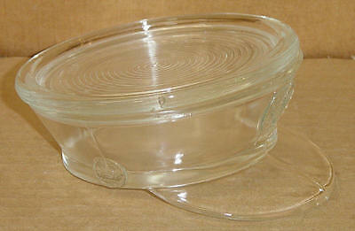 EAPG CRYSTAL NOVELTY ARMY CAP COVERED BOWL CIRCA 1890