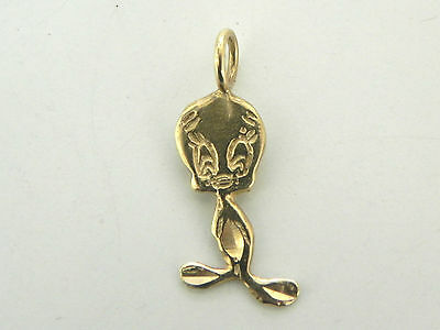 TWEETY BIRD PENDANT or CHARM 14K SOLID GOLD WARNER BROS.