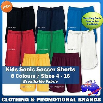 Kids Sonic Soccer Shorts Football Sports Boys Unisex Girls Size 4 - 16 ST122K
