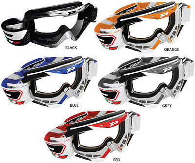 New Progrip 3450 Top Line Mx Motocross Goggles Free Express Eu Delivery