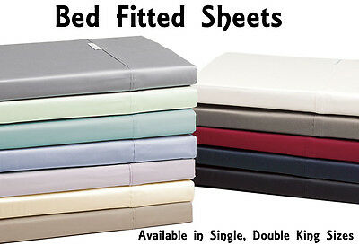 Luxurious Percale Cotton   Single   Double   King   Size Bed Fitted Sheets New