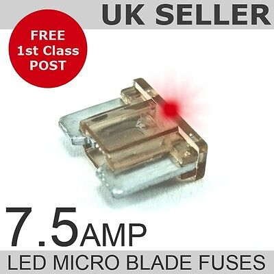 LED 7.5A Amp Micro Blade Low Profile Fuses *Quantity 10