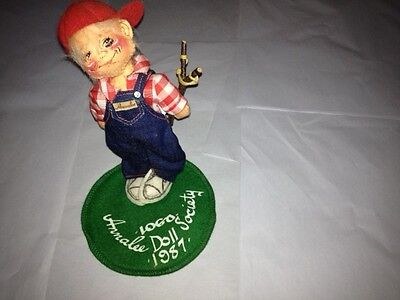 "Annalee Society Slingshot Boy 7"" Retired 1987"