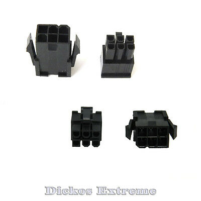 6 PIN  VGA/PCI-Express Power Supply Connector Set 1 x Male & 1 x Female Black