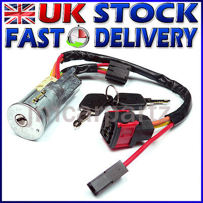 Ignition Starter Lock Barrel & Keys compatible with PEUGEOT 206  1998 -
