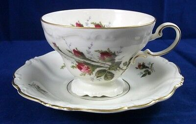 Rosenthal MOSS ROSE Pompadour Shape-Ivory Cup & Saucer Set 2984 GREAT CONDITION