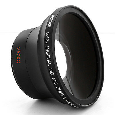Wide Angle Fisheye Lens 0.43x for Sony DSC-H10 H5 H3 H2 H1 F828, DSLR-A550, A500