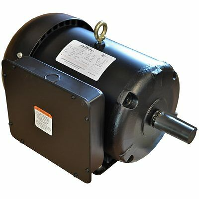 Ingersoll rand 7 5 hp 1p compressor motor 230 23172604 for 7 5 hp electric motor 3 phase