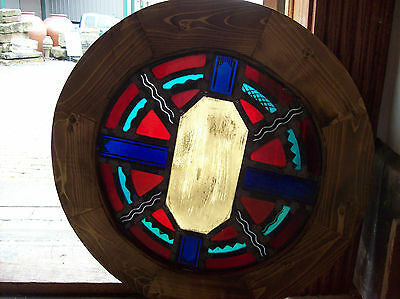 Round Symbols  Stained glass window (SG 1437)