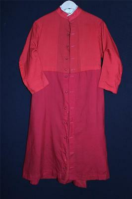 Very Rare French Edwardian-1920's  Boy's Red Wool Religious Coat Size 12-14