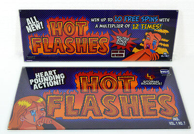 HOT FLASHES IGT Slot Machine Glass Panels - Top and Bottom