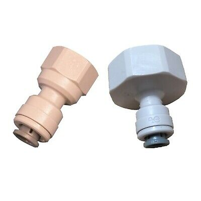 "EXPRESS: John Guest Tap Adaptors 3/4""+1/2""BSP To 6mm 