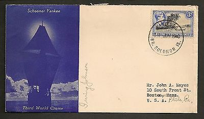 Schooner Yankee Third World Cruise - 1940 Solomon Islands Signed Irving Johnson
