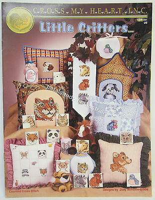 Counted Cross Stitch Pattern Instruction  Book Little Critters 18 Animal Designs
