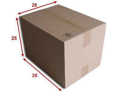10 boîtes emballages cartons  n° 46A - 350x260x250 mm - simple cannelure