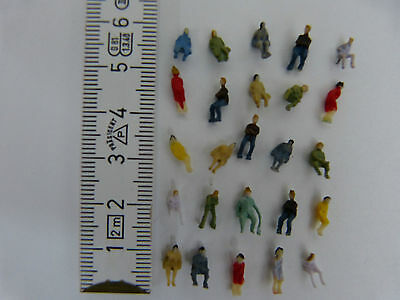 P150S 100pcs all Seated 1:150 Scale Painted Figures Passenger N