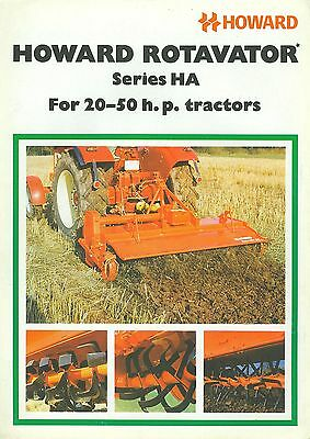 1976 Howard Ha-Series Rotavators Brochure