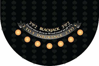 Blackjack layout casino quality 4 colors to choose from