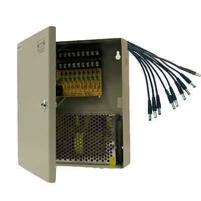 8 CH POWER SUPPLY  9 Ports CCTV CAMERA Box +Pigtails