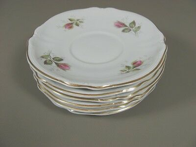 Hutschenreuther China MOSS ROSE (2505) Set of 6 Saucers