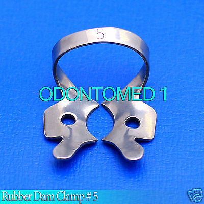 12 Endodontic Rubber Dam Clamp #5 Surgical Dental Instruments