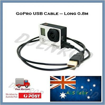 0.8m GoPro Hero 4 / 3+ / 3 USB Cable - Go Pro Black Silver & White Fast Transfer