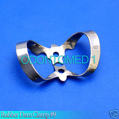 6 Endodontic Rubber Dam Clamp # 9 Surgical Dental Instruments