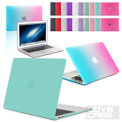 """Rubberized See-Through Hard Case Cover for 11"""", 13"""" Macbook Air + NEW 2018 MODEL"""