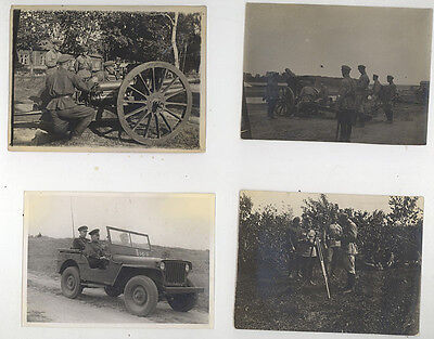 4 VINTAGE 1930-1940s WW2 RUSSIAN USSR RED ARMY SOLDIER MILITARY PHOTO PHOTOGRAPH