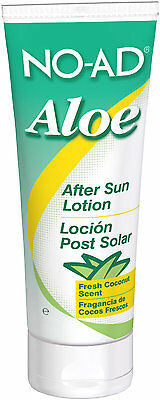 NO-AD Aloe After Sun Lotion 100ml Travel Size Hydrating & Moisturising