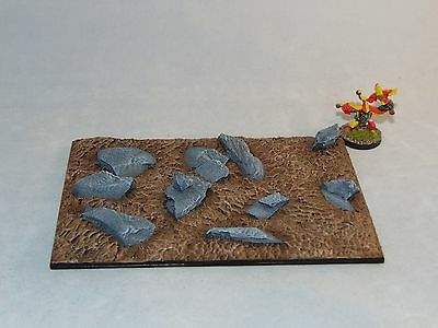 Large Monster Scenic resin base 150X100mm Unpainted Rough ground base X1