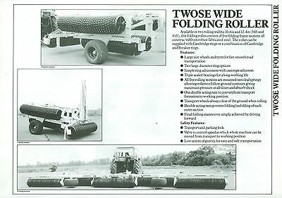 Twose Wide Folding Rolls Sales Sheet