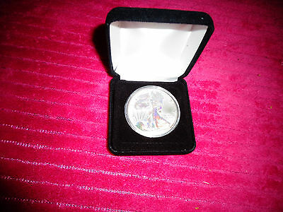 2004 American Silver Eagle,Silver Hologram 1 Troy Oz One Dollar Coin BU.999 Fine