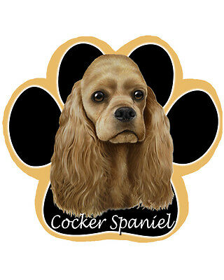 COCKER SPANIEL Buff Blond Dog Paw Shaped Computer MOUSE PAD Mousepad