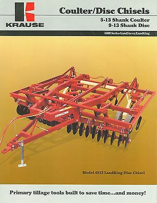 Krause Coulter/disc Chisels Brochure