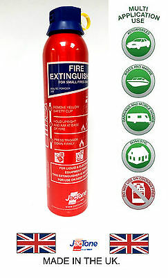 FIRE EXTINGUISHER FOR HOME, CARAVAN, CAR, TAXI, BOAT- 600 G BC Powder -FREE P&P