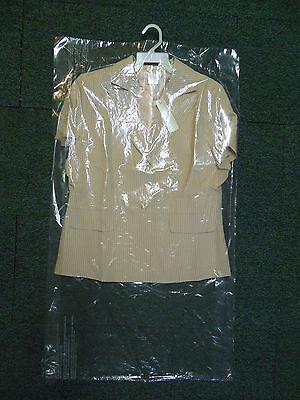 "Lot of 15 DRY CLEANER POLY GARMENT GUSSETED PLASTIC BAGS. 21"" x 4"" x 36"""