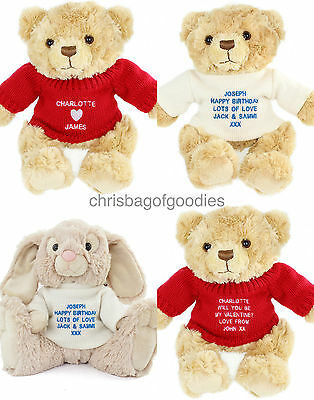 PERSONALISED TEDDY BEAR Gifts For Men Dad Him Fathers Day Birthday Daddy Son