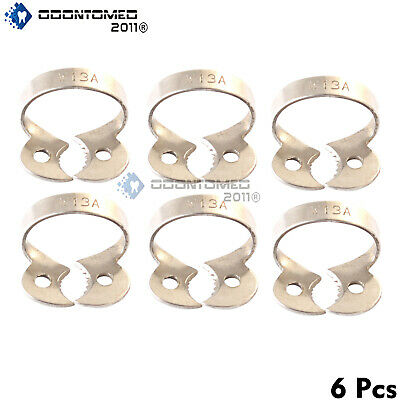 6 Endodontic Rubber Dam Clamp #13 A