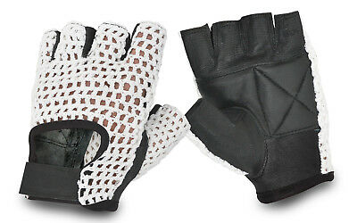 Weight Lifting Padded Mesh Leather Gloves Fitness Exercise Training Cycling Gym