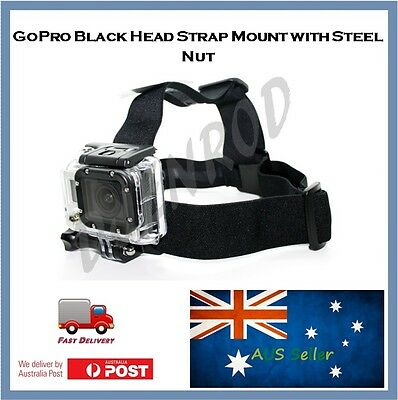 GoPro Head Strap Mount (Black) for Hero 5, 4, Session, 3+, 3, 2 Action Go Pro
