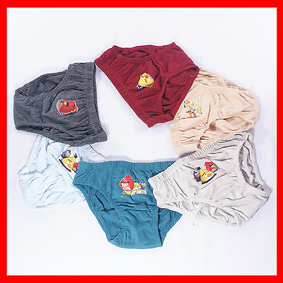 6 PCS Kids Boys Angry Birds Bird Undies Brief Underwear Boxer Trunk Sz