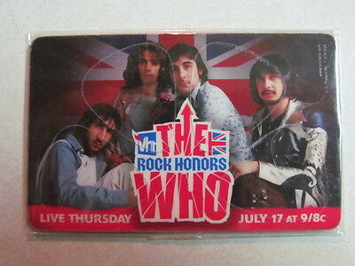 THE WHO CUSTOM PikCARD 4 Guitar PICKS WALLET CARD VH1 ROCK HONORS NEW TOWNSHEND