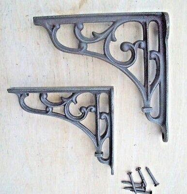 Antique Cast Iron Scroll Shelf Support Book Sink Toilet Cistern Fancy Bracket