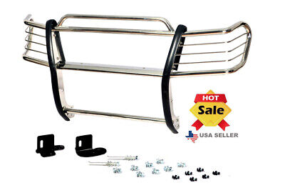 99-02 Chevy Chevrolet Silverado 1500LD Chrome Brush Stainless Steel Grill Guard